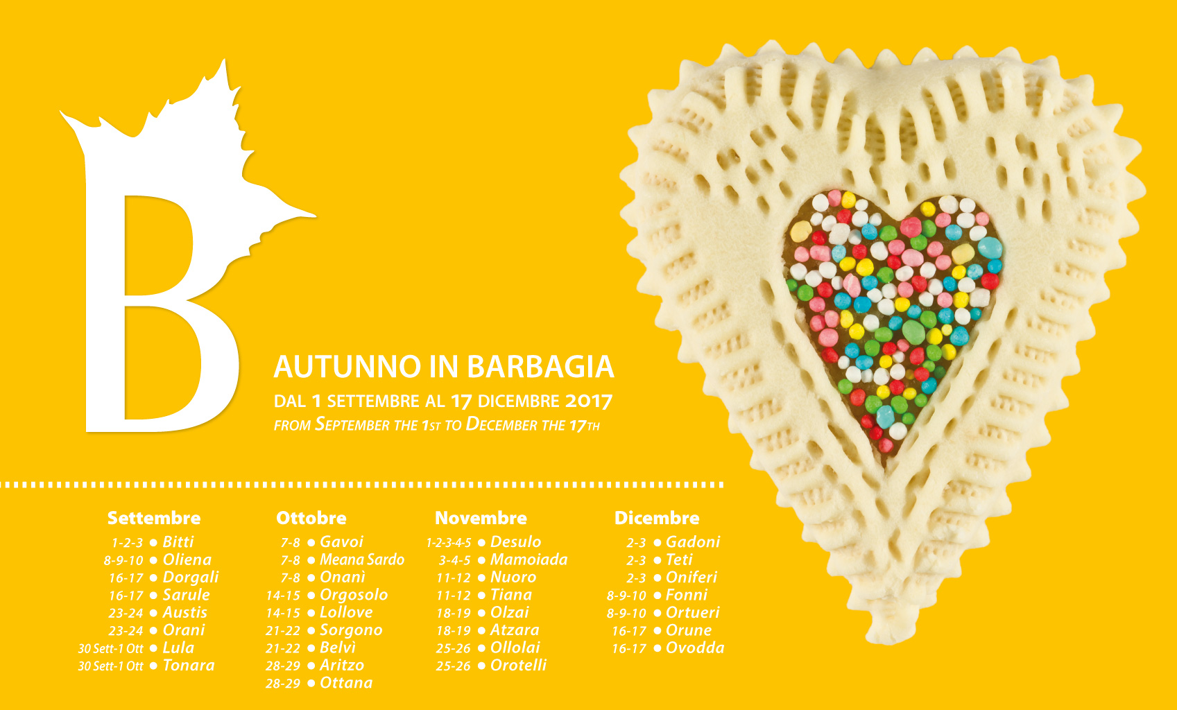 Calendario Autunno in Barbagia 2017