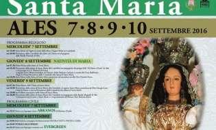 Santa Maria 2016 Ales | Dal 7 al 10 settembre