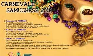 Carnevale Samughese 2018 | Dall 11 al 17 febbraio