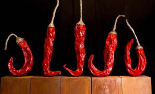 Uno scultore sardo è l'ambasciatore mondiale del peperoncino
