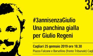 3 anni senza Giulio: a Cagliari una panchina gialla